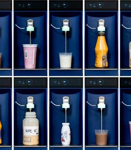 Фото, представляющее различные молочные жидкости, анализируемые MilkoScan FT3
