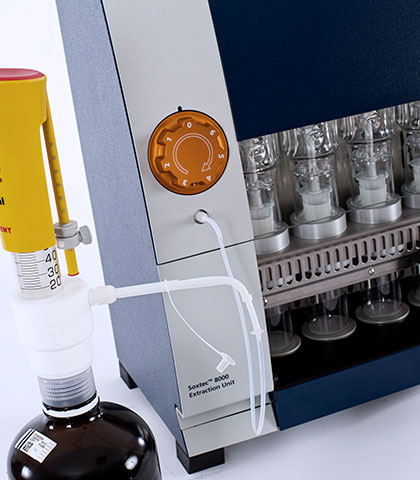 Soxtec 8000 - Secure solvent dispensing & recovery
