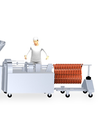 Sausage production process